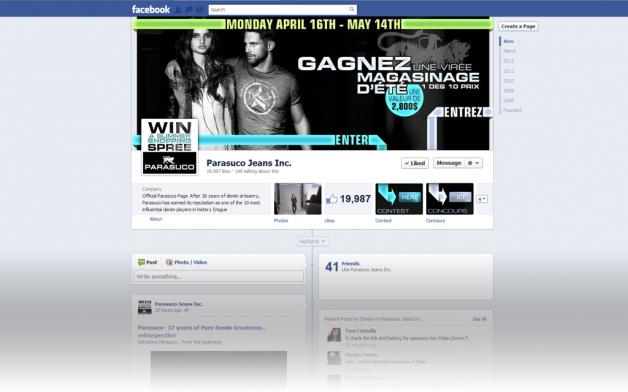 Parasuco Jeans Facebook Contest